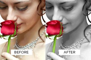Artistic Wedding Photo Enhancement example