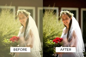 wedding photo editing service example