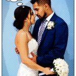 wedding photo editing comic effect